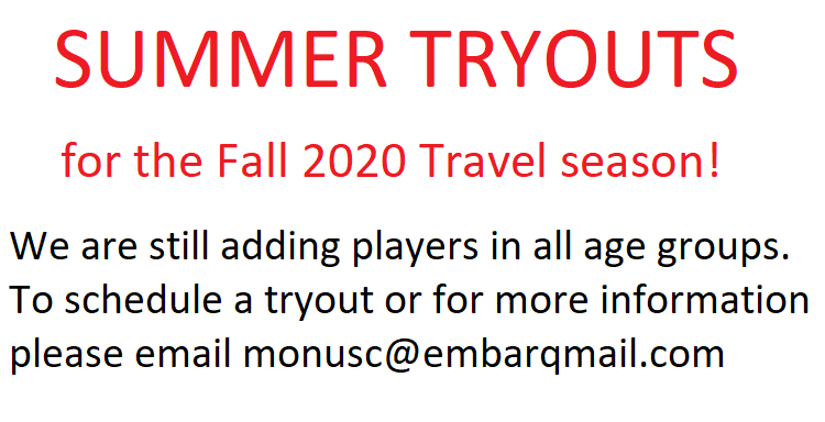 Fall 2020/Spring 2021 Tryouts